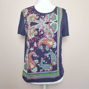 Maeve Purple Paisley Top Size XS